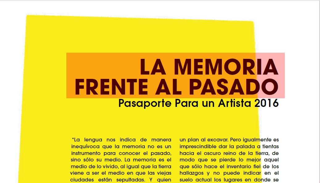 Sobre el plagio en Pasaporte para un artista 2016 ¿Una sociedad sin ...